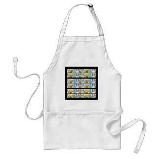 Kitty Lineup-Colorful Cats Adult Apron