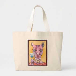 Kitty Lollipop Large Tote Bag