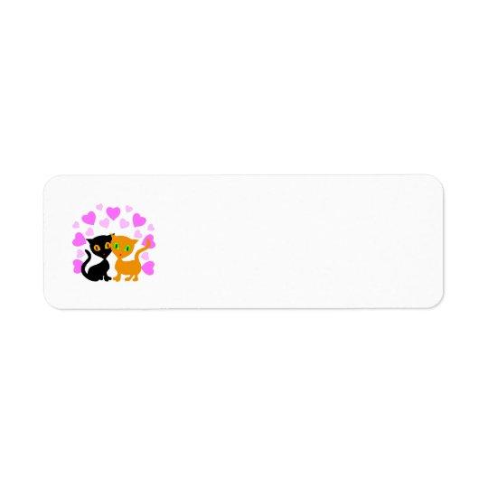 Kitty Love Return Address Label