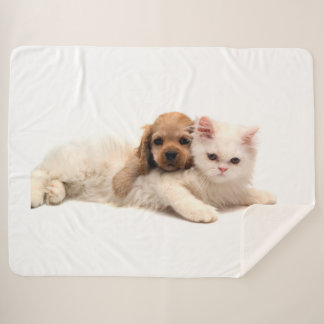 Kitty Love Sherpa Blanket