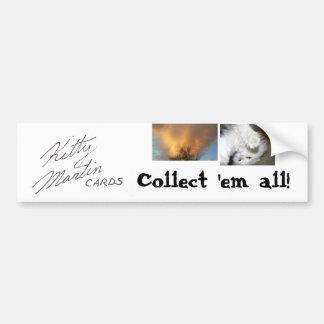 Kitty Martin Cards Bumper Sticker