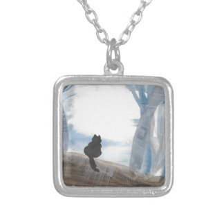 Kitty On A Misty Morning Silver Plated Necklace