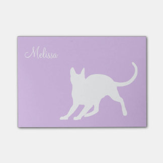 Kitty on Lavender Post-it Notes