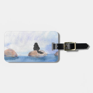 Kitty On Stepping Stones Luggage Tag