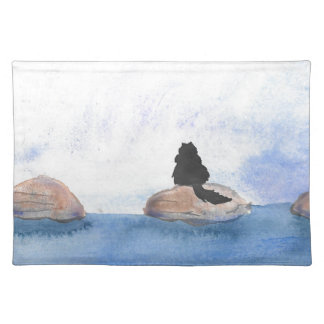 Kitty On Stepping Stones Placemat