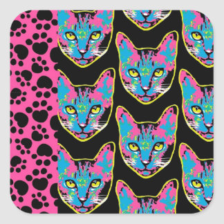 Kitty Patch Square Sticker