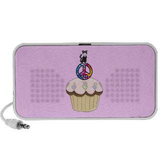 Kitty Peace Cupcake Laptop Speaker