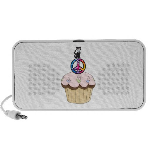 Kitty Peace Cupcake Mp3 Speakers