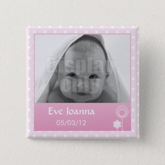 Kitty - pink pin's 15 cm square badge