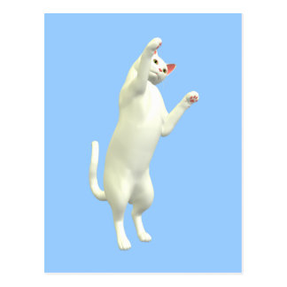 Kitty playful reaching postcard