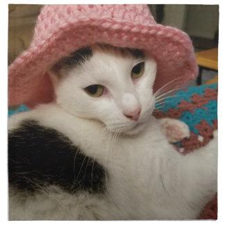 Kitty pose napkin