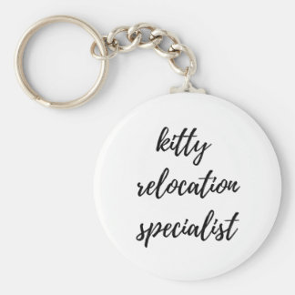 Kitty Relocation Specialist Key Ring
