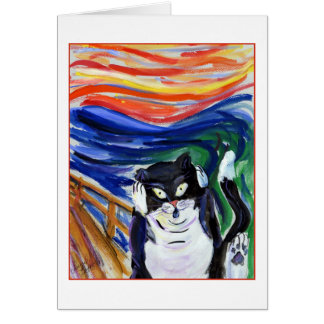 Kitty Scream Greeting Card