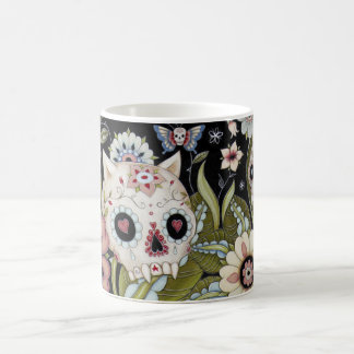 Kitty Scull and Luna Moth Basic White Mug