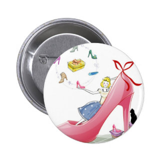 Kitty Shoe Lady Buttons