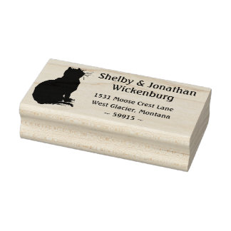 Kitty Silhouette Return Address Stamp