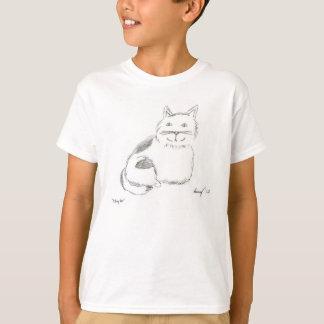 Kitty Sketch Kids Basic T-Shirt