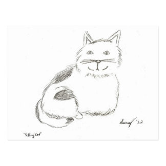 Kitty Sketch Postcard