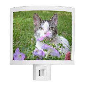 Kitty Smells the Flowers Night Light