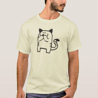 Kitty Snickers - Black Line T-Shirt