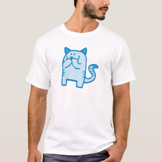 Kitty Snickers - Blue T-Shirt