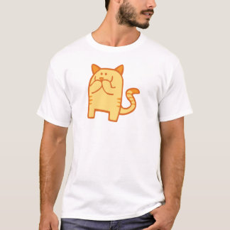 Kitty Snickers - Orange T-Shirt