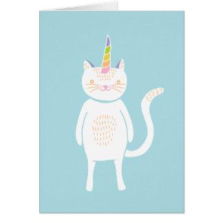 Kitty Unicorn Greeting Card