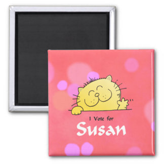 Kitty Vote for Susan Fun Gift Magnet
