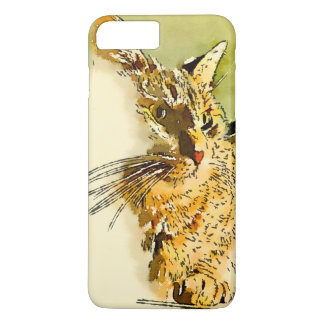 Kitty Whiskers Heart Nose Watercolor iPhone 7 Plus Case