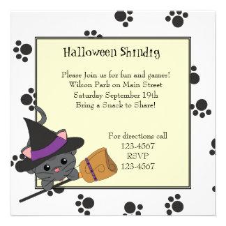 Kitty Witch Cutie Personalized Invitation