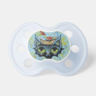 Kitty with Baby Gumdrop Birds and Malt Eggs BINKY Baby Pacifier