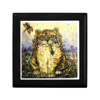 """""""Kitty with Flower"""" Small Square Gift Box"""
