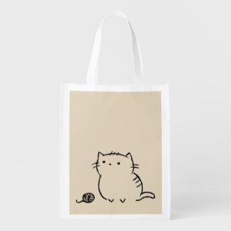 Kitty & Yarn Reusable Grocery Bag