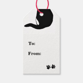 Kitty's Back Tail Design Gift Tags