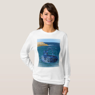 Kitty's Sea Adventure, Ladies White Sweatshirt