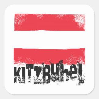Kitzbühel Grunge Flag Square Sticker