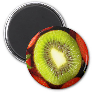 Kiwi and Strawberry Magnet