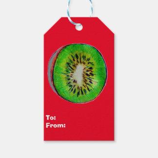 Kiwi Art on Set of Gift Tags