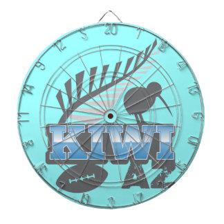 KIWI AZ rugby bird and silver fern Dartboard With Darts