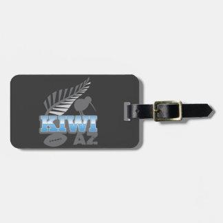 KIWI AZ rugby bird and silver fern New Zealand Luggage Tag