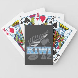 KIWI AZ rugby bird and silver fern Poker Deck