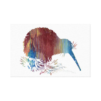 Kiwi Bird Art Canvas Print