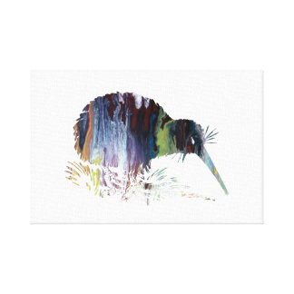 Kiwi Bird Art Canvas Print