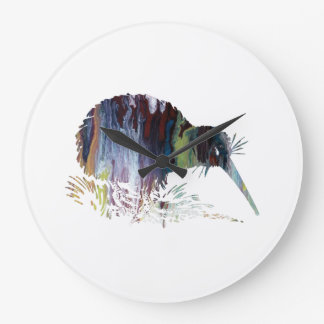 Kiwi Bird Art Large Clock