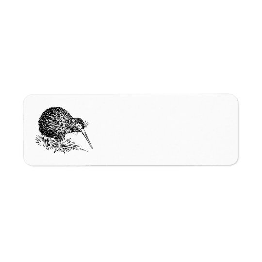 Kiwi Bird Art Return Address Label