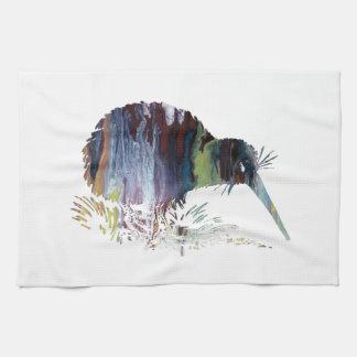 Kiwi Bird Art Tea Towel