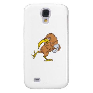 Kiwi Bird Running Rugby Ball Drawing Samsung Galaxy S4 Cover