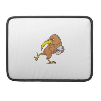 Kiwi Bird Running Rugby Ball Drawing Sleeve For MacBooks