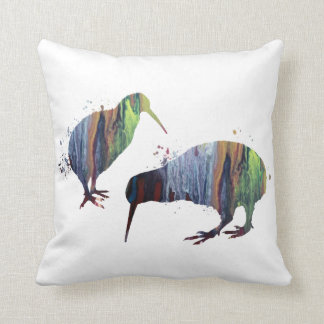 Kiwi birds cushion