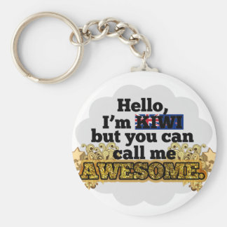 Kiwi, but call me Awesome Key Ring